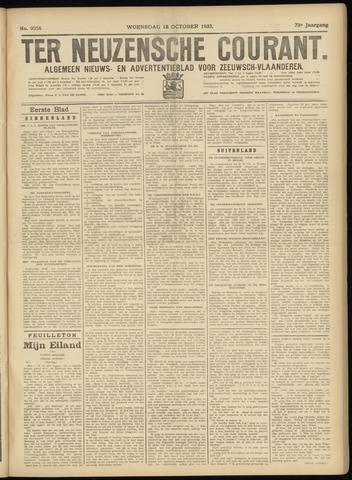 Ter Neuzensche Courant. Algemeen Nieuws- en Advertentieblad voor Zeeuwsch-Vlaanderen / Neuzensche Courant ... (idem) / (Algemeen) nieuws en advertentieblad voor Zeeuwsch-Vlaanderen 1933-10-18