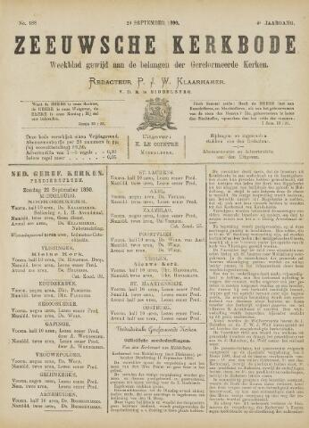 Zeeuwsche kerkbode, weekblad gewijd aan de belangen der gereformeerde kerken/ Zeeuwsch kerkblad 1890-09-20