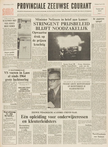 Provinciale Zeeuwse Courant 1970-04-21