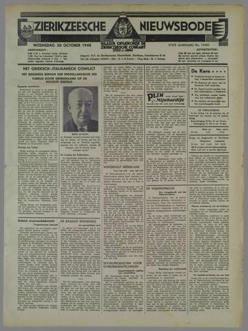 Zierikzeesche Nieuwsbode 1940-10-30