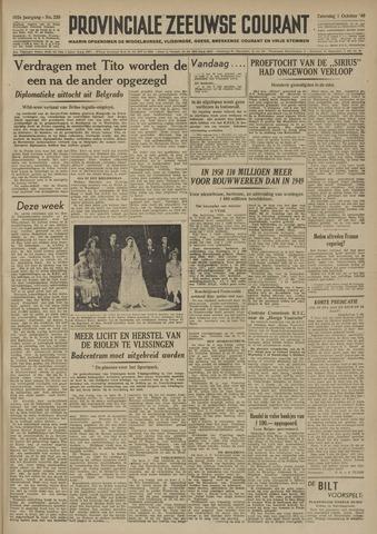 Provinciale Zeeuwse Courant 1949-10-01