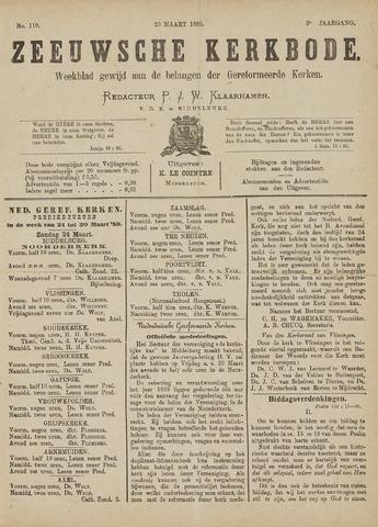 Zeeuwsche kerkbode, weekblad gewijd aan de belangen der gereformeerde kerken/ Zeeuwsch kerkblad 1889-03-23
