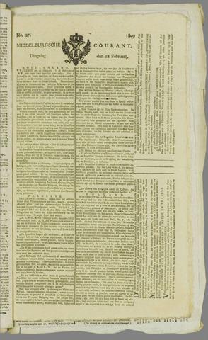 Middelburgsche Courant 1809-02-28
