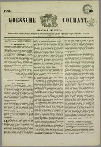 Goessche Courant 1852-04-12