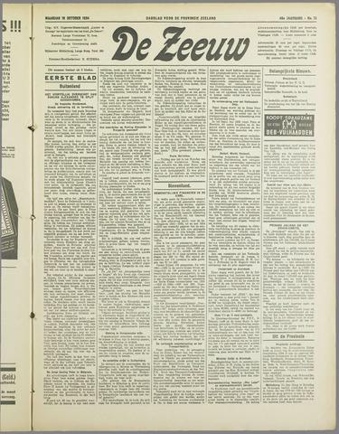 De Zeeuw. Christelijk-historisch nieuwsblad voor Zeeland 1934-10-15