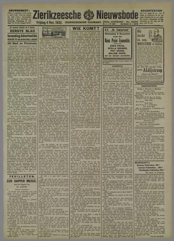 Zierikzeesche Nieuwsbode 1932-11-04