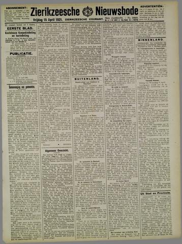 Zierikzeesche Nieuwsbode 1921-04-15