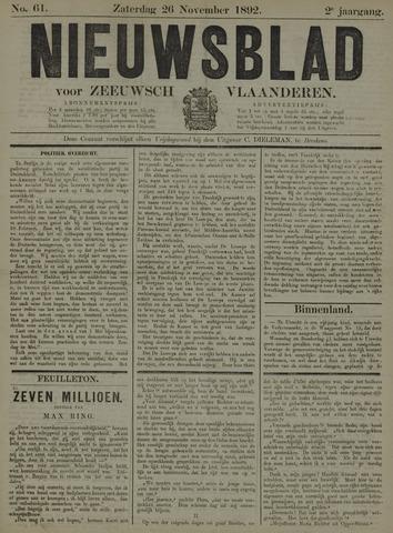 Nieuwsblad voor Zeeuwsch-Vlaanderen 1892-11-26