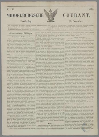 Middelburgsche Courant 1854-12-28
