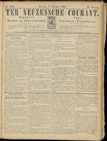 Ter Neuzensche Courant. Algemeen Nieuws- en Advertentieblad voor Zeeuwsch-Vlaanderen / Neuzensche Courant ... (idem) / (Algemeen) nieuws en advertentieblad voor Zeeuwsch-Vlaanderen 1904-09-10