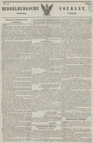 Middelburgsche Courant 1850-01-03