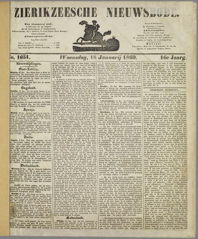 Zierikzeesche Nieuwsbode 1860