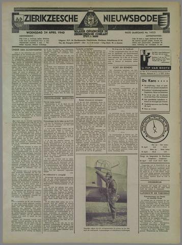 Zierikzeesche Nieuwsbode 1940-04-24