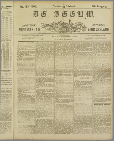 De Zeeuw. Christelijk-historisch nieuwsblad voor Zeeland 1906-03-08