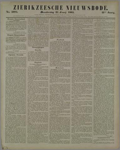 Zierikzeesche Nieuwsbode 1885-06-25