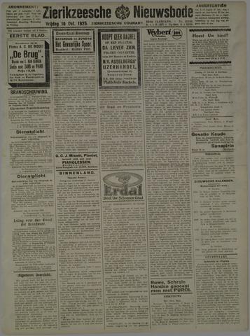 Zierikzeesche Nieuwsbode 1925-10-16