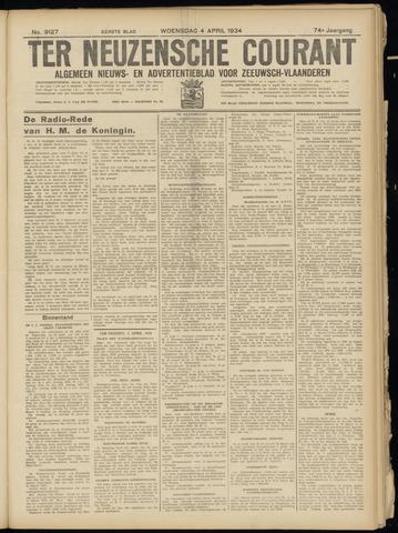 Ter Neuzensche Courant. Algemeen Nieuws- en Advertentieblad voor Zeeuwsch-Vlaanderen / Neuzensche Courant ... (idem) / (Algemeen) nieuws en advertentieblad voor Zeeuwsch-Vlaanderen 1934-04-04