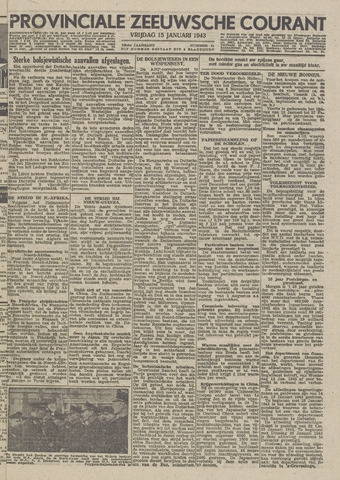 Provinciale Zeeuwse Courant 1943-01-15