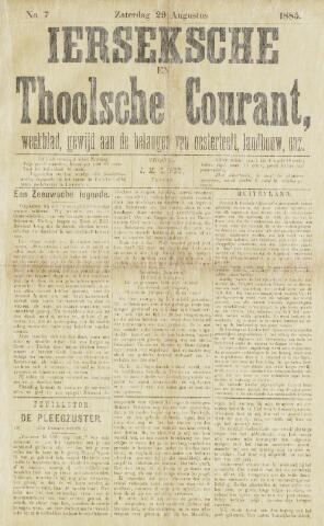 Ierseksche en Thoolsche Courant 1885-08-29