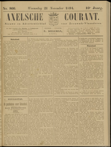 Axelsche Courant 1894-11-21