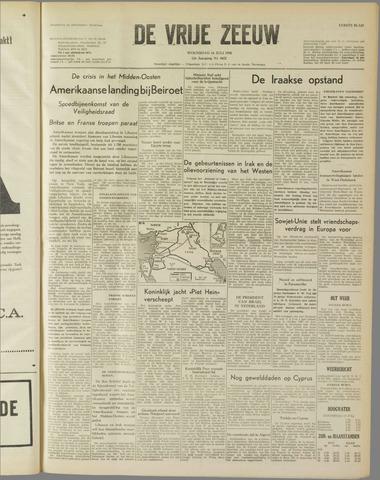 de Vrije Zeeuw 1958-07-16
