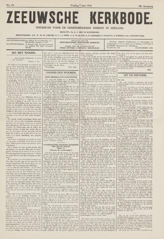 Zeeuwsche kerkbode, weekblad gewijd aan de belangen der gereformeerde kerken/ Zeeuwsch kerkblad 1936-06-05