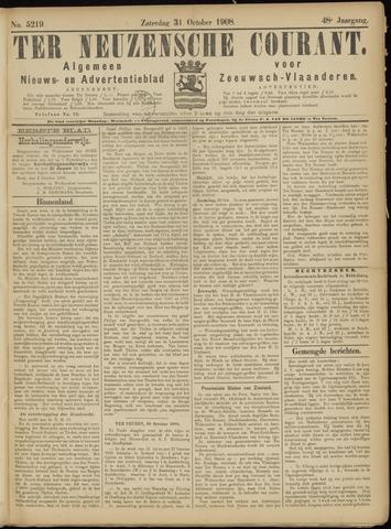 Ter Neuzensche Courant. Algemeen Nieuws- en Advertentieblad voor Zeeuwsch-Vlaanderen / Neuzensche Courant ... (idem) / (Algemeen) nieuws en advertentieblad voor Zeeuwsch-Vlaanderen 1908-10-31