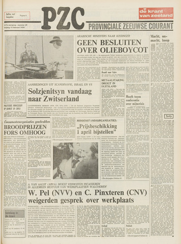 Provinciale Zeeuwse Courant 1974-02-15