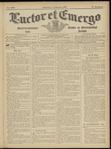 Luctor et Emergo. Antirevolutionair nieuws- en advertentieblad voor Zeeland / Zeeuwsch-Vlaanderen. Orgaan ter verspreiding van de christelijke beginselen in Zeeuwsch-Vlaanderen 1913-08-02