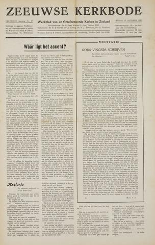 Zeeuwsche kerkbode, weekblad gewijd aan de belangen der gereformeerde kerken/ Zeeuwsch kerkblad 1957-10-25