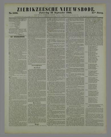 Zierikzeesche Nieuwsbode 1888-09-22