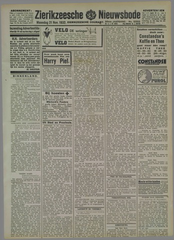 Zierikzeesche Nieuwsbode 1932-11-21