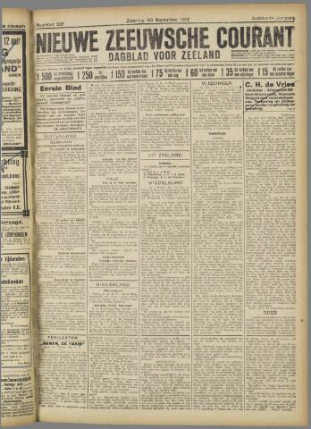 Nieuwe Zeeuwsche Courant 1922-09-30