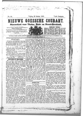 Nieuwe Goessche Courant 1869-10-29