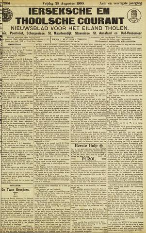 Ierseksche en Thoolsche Courant 1930-08-29
