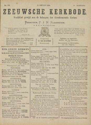 Zeeuwsche kerkbode, weekblad gewijd aan de belangen der gereformeerde kerken/ Zeeuwsch kerkblad 1889-01-12
