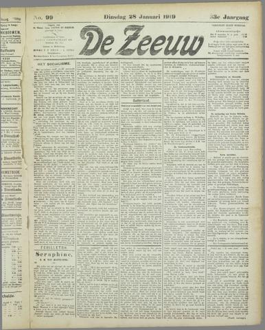 De Zeeuw. Christelijk-historisch nieuwsblad voor Zeeland 1919-01-28