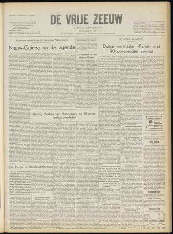 de Vrije Zeeuw 1957-09-23