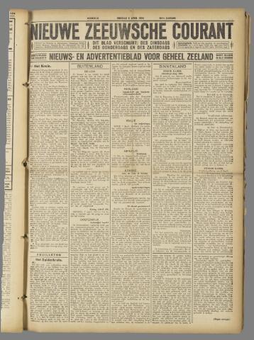 Nieuwe Zeeuwsche Courant 1924-04-08