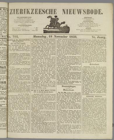Zierikzeesche Nieuwsbode 1850-11-18