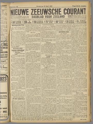 Nieuwe Zeeuwsche Courant 1923-04-19