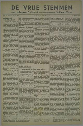 Vrije Stemmen van Schouwen-Duiveland, tevens mededeelingenblad Militair Gezag 1945-07-31