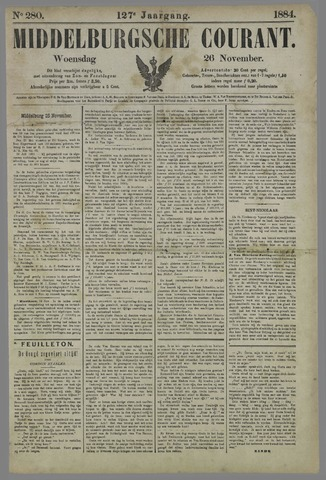 Middelburgsche Courant 1884-11-26