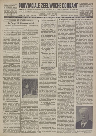 Provinciale Zeeuwse Courant 1941-10-15