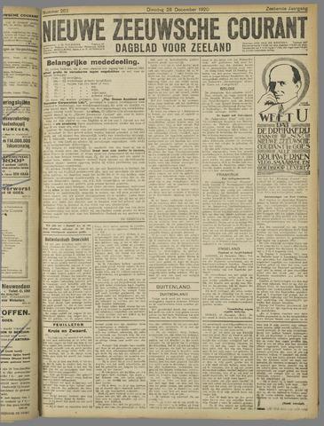 Nieuwe Zeeuwsche Courant 1920-12-28