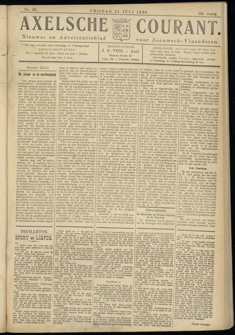 Axelsche Courant 1936-07-31