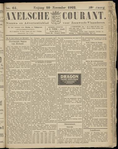 Axelsche Courant 1922-11-10