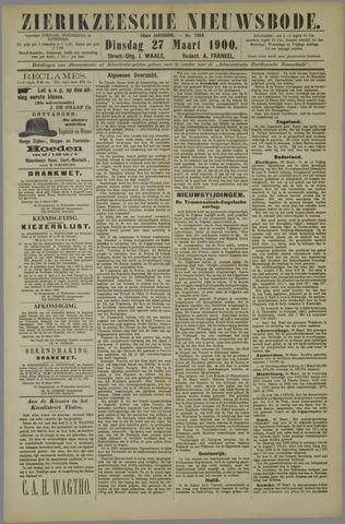 Zierikzeesche Nieuwsbode 1900-03-27