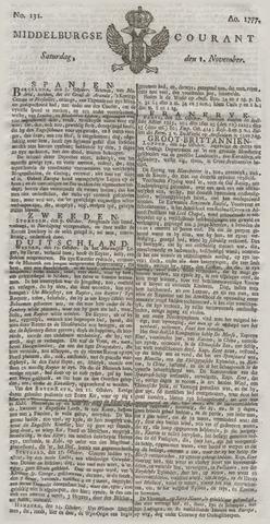 Middelburgsche Courant 1777-11-01