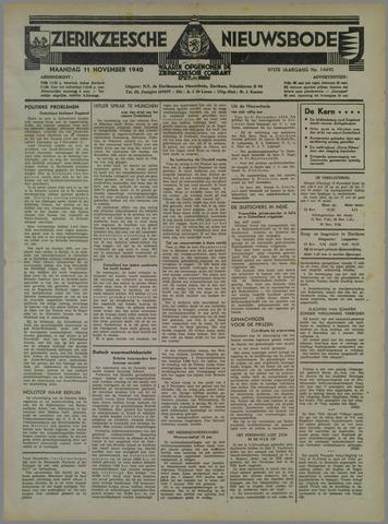 Zierikzeesche Nieuwsbode 1940-11-11